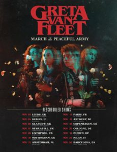 Greta van Fleet: Tour-Update