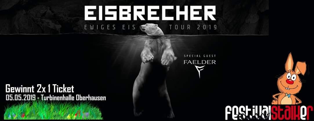 Gewinnspiel: 1x2 Tickets für Eisbrecher in Oberhausen