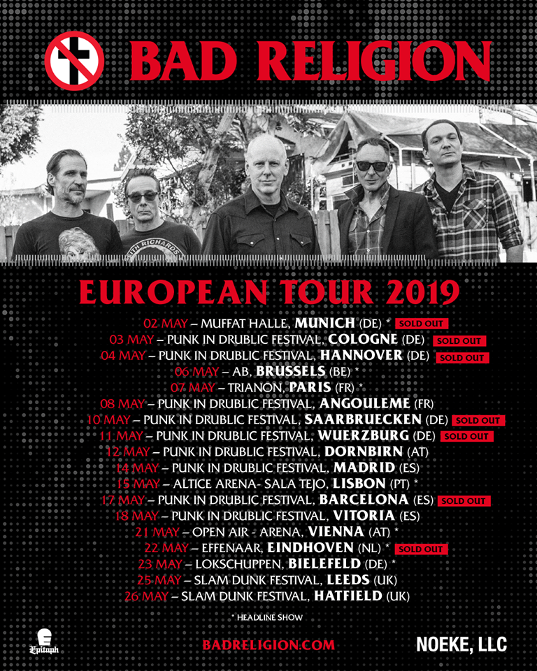Bad Religion mit neuen Songs auf Tour