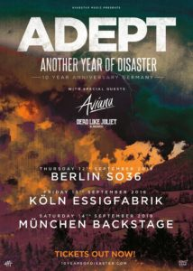 TOUR: ADEPT - ANOTHER YEAR OF DESASTER