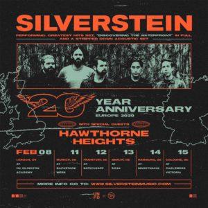TOUR: SILVERSTEIN - 20th ANNIVERSARY TOUR