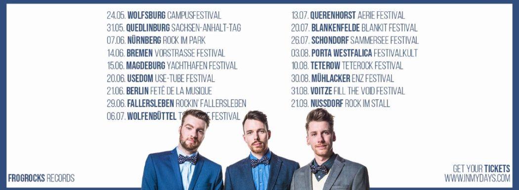 Tour In My Days Sommerdates Festivalstalker Online Magazin