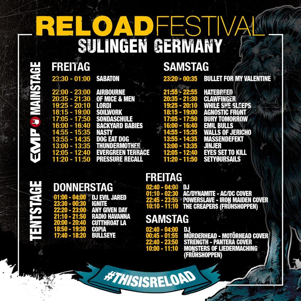 Gewinnspiel: 2x1 Tickets für das Reload Festival