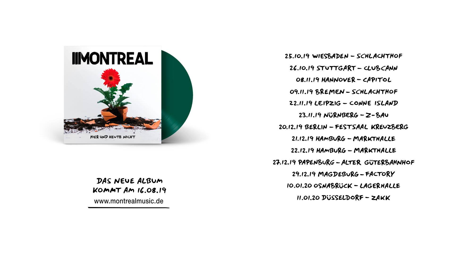 """Interview : Montreal """"Hier und Heute nicht"""""""