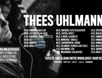 Thees Uhlmann – Neue Termine für 2019