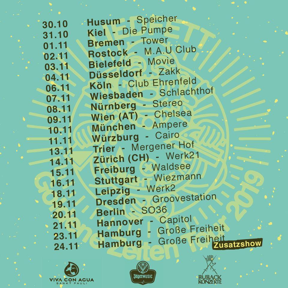 Tour: Liedfett - Goldene Zeiten - Tour 2019