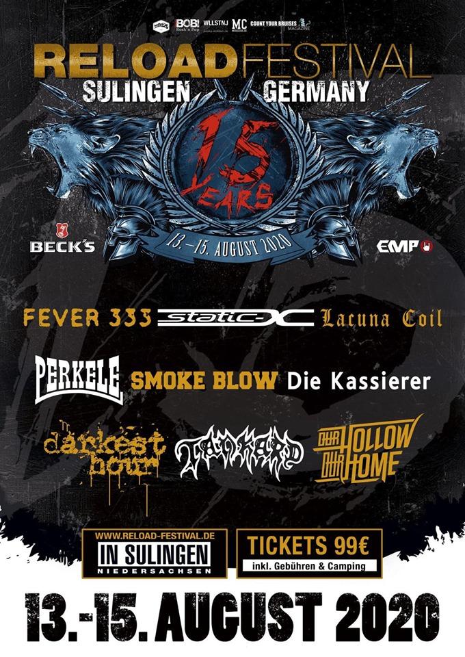 Festival: Reloadfestival - Die ersten Bands