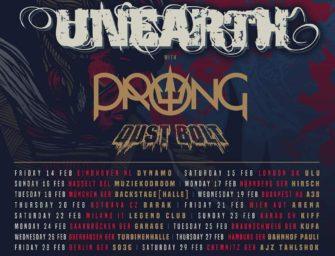 Tour: Unearth – European Tour 2020
