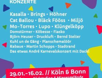 Die Bonn Live Carnevalskonzerte machen's möglich!