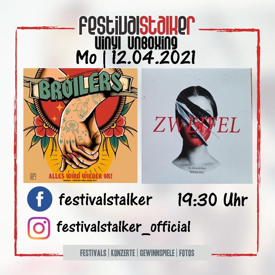Festivalstalker - Vinyl Unboxing - Live auf Facebook und Instagram